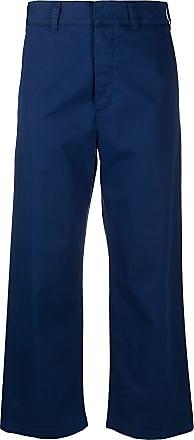 Department 5 Calça cropped com modelagem ampla - Azul