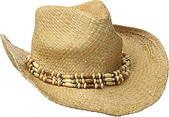 ca011f58028f9b San Diego Hat Company Womens Raffia Cowboy Hat with Beaded Band, Natural,  One Size
