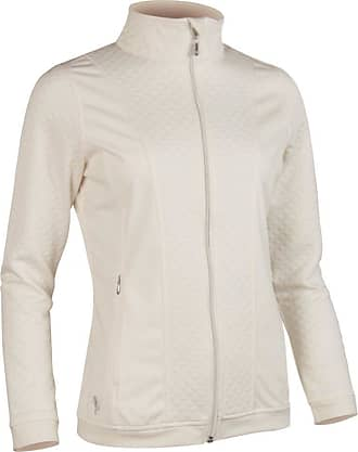 Glenmuir Ladies LF2583ZT Embossed Diamond Zip Front Performance Mid Layer Ivory M