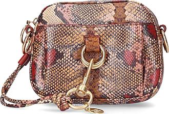 See By Chloé Handbag TONY Calfskin logo print beige