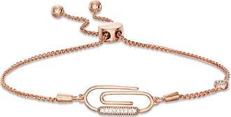 e6c71f036cf T.w. Diamond Paper Clip Vintage-Style Bolo Bracelet in