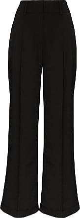 Xu Zhi high-rise wide-leg trousers - Black