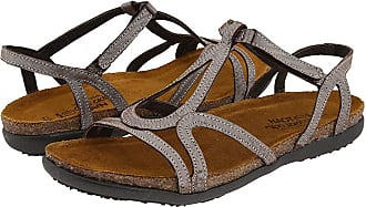 bba0cbcb93a9 Naot Dorith (Silver Threads Leather) Womens Sandals
