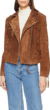 Vila Womens Vicris Suede Jacket-Noos, Brown (Oak Brown), 12 (Size: Medium)