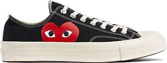 Comme Des Garçons X Converse Rotes Herz Chuck Taylor All Star 70 Niedrige schwarze Schuhe - black | 5.5 uk - Black/Black