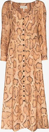 Mara Hoffman Womens Brown Silvana Snake Print Midi Dress