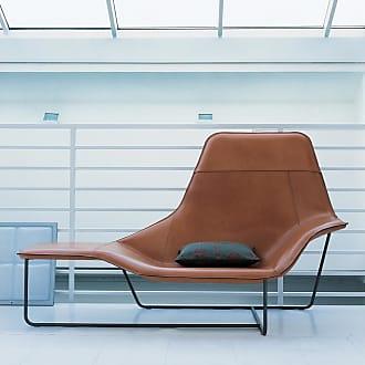 ZANOTTA Design Lama Lounge Chair Leather & Graphite