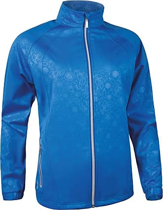 Glenmuir Ladies LW2586ZT Water Repellent Embossed Patterned Zip Front Performance Jacket (L - 38-40 inch Chest, Tahiti)