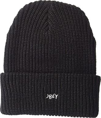 Obey Mens Jumbled Knit Beanie Hat, Black, One Size