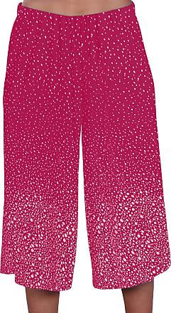 Eyecatch Womens Wide Leg Modern Ladies Culottes Shorts Trousers Pants | Fushia 24/26