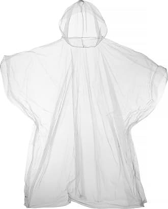 Universal Textiles Hooded Plastic Reusable Poncho (One Size) (Clear)