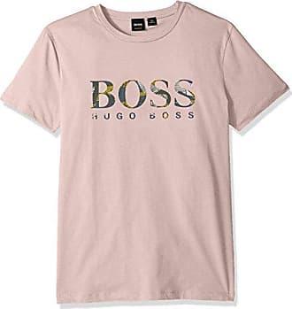 40d8a17e3 HUGO BOSS BOSS Orange Mens Logo Printed Tee with Banana Leaf Artwork, Light  Pink,