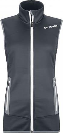 Ortovox Womens Fleece Vest Gilet in pile Donna   nero/grigio