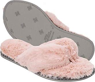 Dearfoams Womens Pile Thong Slipper, Dusty Pink, XL Regular US