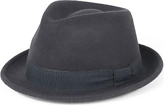 Hat To Socks Elegant Grey Wool Trilby Hat Waterproof & Crushable, Handmade in Italy (Grey, 54 cm)