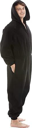 Camille Mens Plain Hooded Onesies XL Black