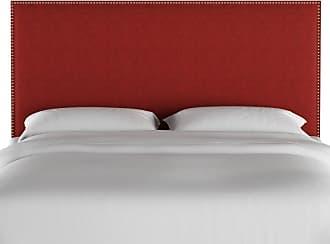 Skyline Furniture Linen Nail Button Upholstered Headboard Linen Conifer Green, Size: Queen - 282NB-GDLNNCNFGRN