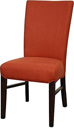 New Pacific Direct 268239-169 Milton Fabric Dining Chair,Set of 2 Furniture, Persimmon Red