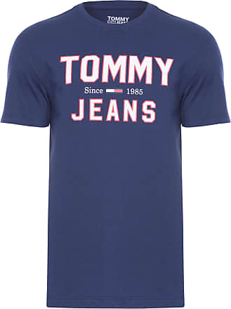 Tommy Jeans T-SHIRT MASCULINA ESSENTIAL 1985 LOGO - AZUL