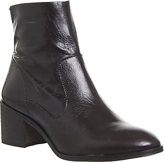 Office Albury- Unlined Block Heel Boot Chocolate Leather - 7 UK