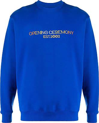 Opening Ceremony Moletom com logo bordado - Azul