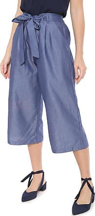 Nem Calça Jeans Nem Pantacourt Cancun Poá Azul