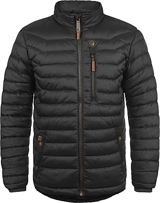 Blend Cemalo Mens Quilted Jacket Puffer Jacket Padded Jacket with Funnel Neck, Size:L, Colour:Black (70155)