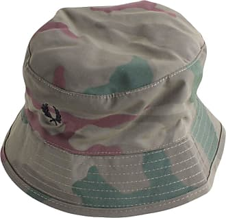 50d52216408 Fred Perry Mens Camouflage Bucket Hat - Iris Camo Green