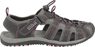 Gola Ladies Gola SHINGLE Sports Walking/Trekking Sandals UK sizes 3,4,5,6,7,8, (8 UK, Black/ Hot Pink)