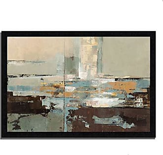 Tangletown Fine Art Morning Haze by Silvia Vassileva Framed Art Gray/Brown