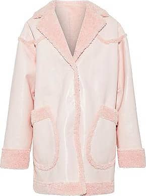 Opening Ceremony Opening Ceremony Woman Reversible Faux Shearling And Faux Patent-leather Coat Pastel Pink Size 0