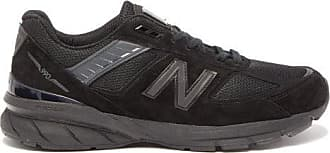 New Balance 990v5 Suede And Mesh Trainers - Mens - Black