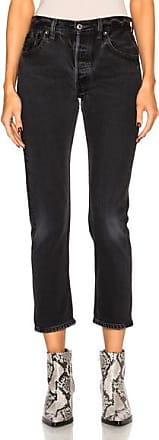 Re/Done Levis High Rise Ankle Crop in Black