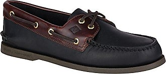 Sperry Top-Sider Mens A/O 2-Eye Boat Shoe, Black/Amaretto, 6 M US