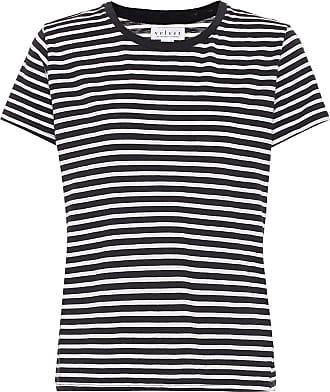 Velvet Hadley striped cotton-blend T-shirt