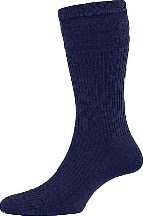 Hj Hall 2 Pair Pack Mens Softop Original Non Elastic Socks Cotton Rich With Ventilated Foot, Navy 11-13
