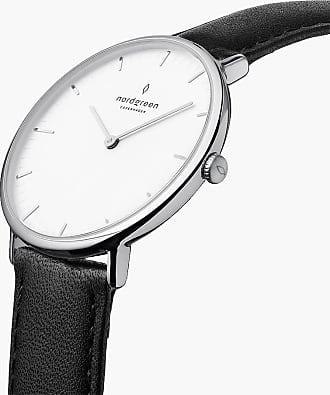 Nordgreen Native | White Dial - Black Vegan Leather - Refurbished - 36mm / Silver