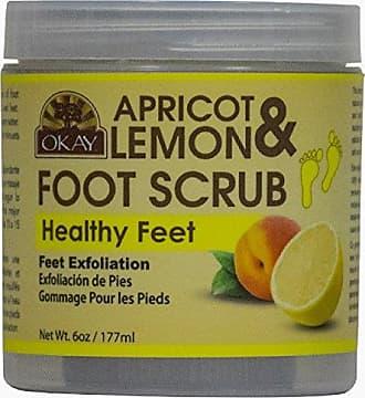 Okay Apricot & Lemon Foot Scrub, 6 Ounce