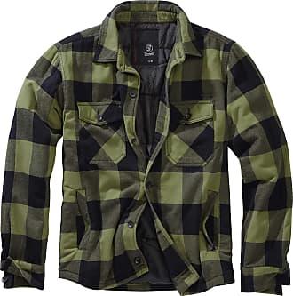 Brandit Lumber Jacket - Woodfall Design - Small to 7XL - Green - Large
