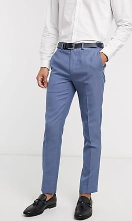 Burton Menswear slim suit trousers in light blue