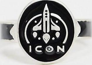 Icon Brand Anello argento con design a missile
