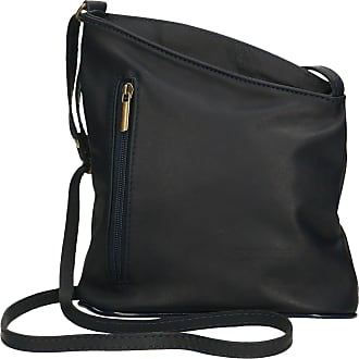 Chicca Borse Aren - Womans Shoulder Bag in Genuine Leather Made in Italy - 20x22x7 Cm