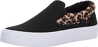 DC Womens Trase Slip-On TX Skate Shoe, Animal, 5 B US
