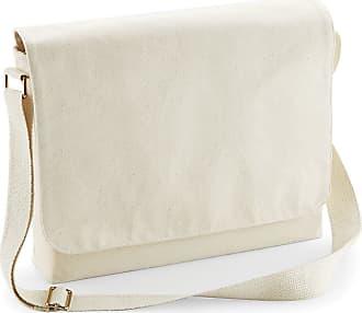 Westford Mill Unisex Fairtrade Cotton Canvas Messenger Bag (One Size) (Natural)