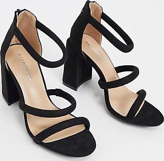 Glamorous Schwarze Sandalen mit Blockabsatz