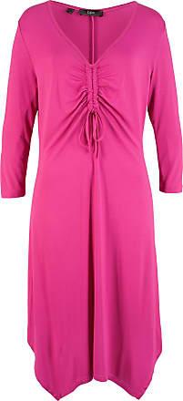 9bf4d786917491 Bonprix Kleid mit Zipfelsaum 3/4 Arm in pink von bonprix