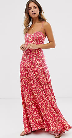 Free People Under The Moonlight - Geblümtes Maxikleid-Rosa