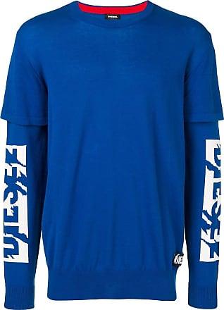 Diesel layered sweater - Blue