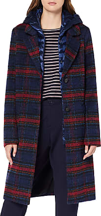 s.Oliver Womens 05.909.52.8000 Coat, Blue (Electric Blue Check 56N0), 12 UK (Size:38)