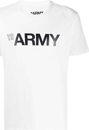 Yves Salomon Army print T-shirt - White